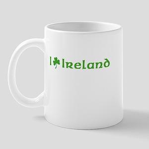 I Love Ireland I Shamrock Ireland Mug