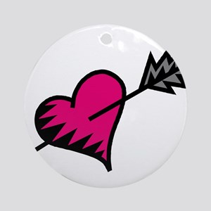 HEART & ARROW {17} : pink Ornament (Round)