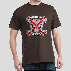 Anderson Family Crest Skull Dark T-Shirt
