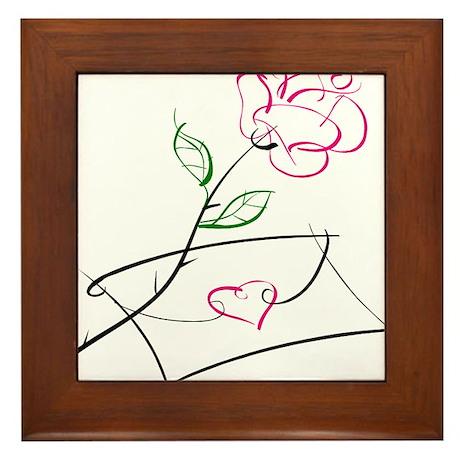 ROSE & VALENTINE {1} : pink Framed Tile