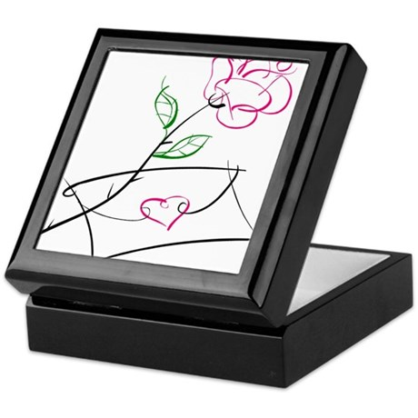 ROSE & VALENTINE {1} : pink Keepsake Box