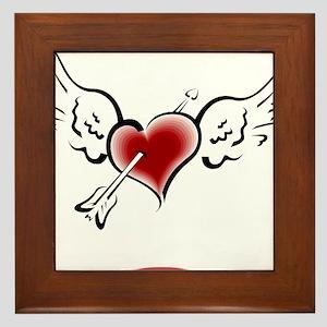 HEART, WINGS & ARROW {1} : re Framed Tile