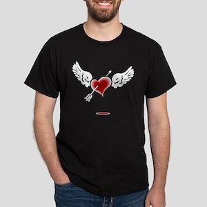 HEART, WINGS & ARROW {1} : re Dark T-Shirt