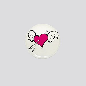 HEART, WINGS & ARROW {1} : pi Mini Button