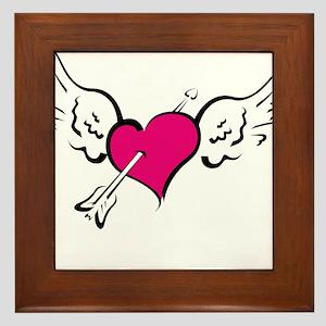 HEART, WINGS & ARROW {1} : pi Framed Tile