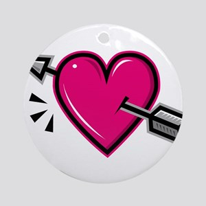 HEART & ARROW {19} : pink Ornament (Round)