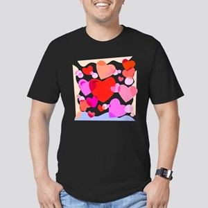 HEARTS {32} Men's Fitted T-Shirt (dark)