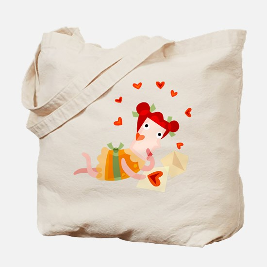 A GIRL AND HER VALENTINE Tote Bag