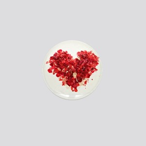 ROSE PETAL HEART Mini Button