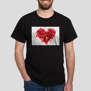 ROSE PETAL HEART Dark T-Shirt