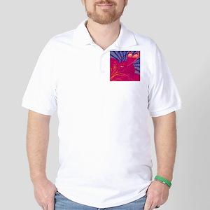 HEARTS {36} : pink/blue Golf Shirt