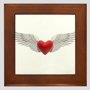 HEART & WINGS {8} Framed Tile