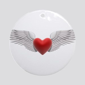 HEART & WINGS {8} Ornament (Round)
