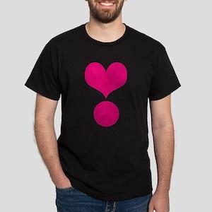 HEART {38} : pink Dark T-Shirt