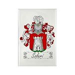 Soleri Family Crest Rectangle Magnet (100 pack)