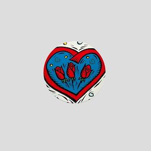 HEART & ROSES Mini Button
