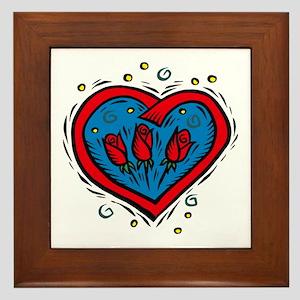 HEART & ROSES Framed Tile