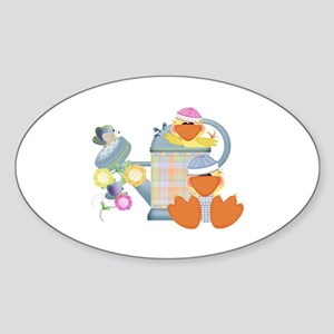 Baby Quackups 3 Oval Sticker