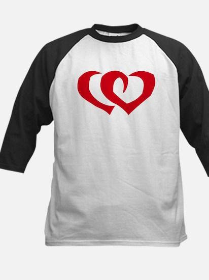 HEARTS {39} : red Kids Baseball Jersey