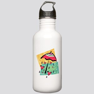 RAINING HEARTS Stainless Water Bottle 1.0L
