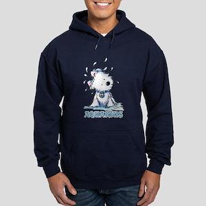 Aquarius Westie Hoodie (dark)