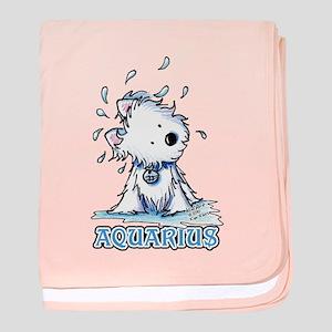 Aquarius Westie baby blanket