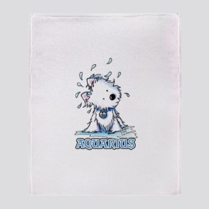 Aquarius Westie Throw Blanket