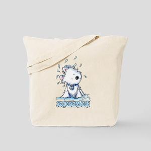 Aquarius Westie Tote Bag