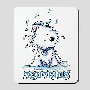Aquarius Westie Mousepad