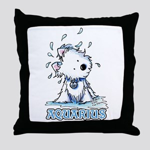 Aquarius Westie Throw Pillow