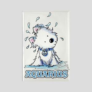 Aquarius Westie Rectangle Magnet