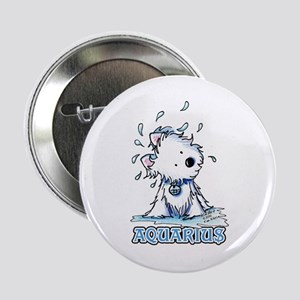"Aquarius Westie 2.25"" Button"