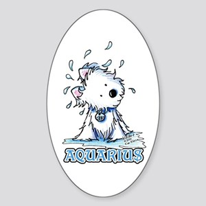 Aquarius Westie Sticker (Oval 10 pk)