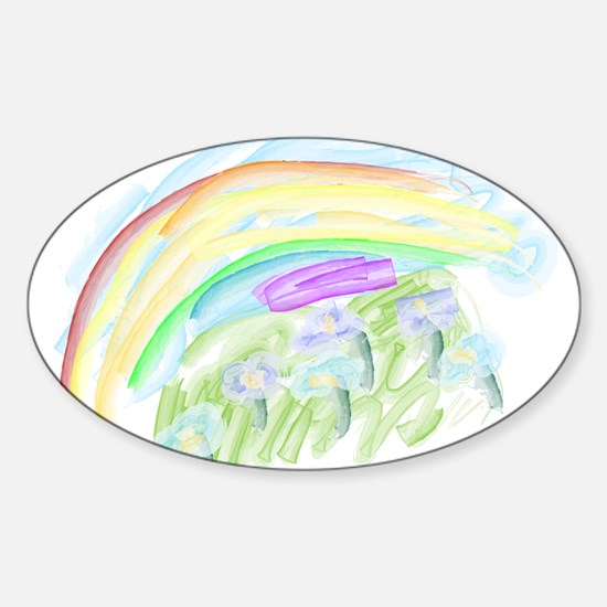 Zoies Rainbow Oval Decal