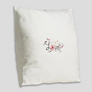 i love you Burlap Throw Pillow