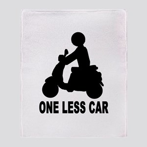 ONE LESS CAR motor scooter Throw Blanket