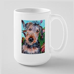Jasper Airedale Terrier Large Mug