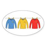 Trek Laundry - Shirts Sticker (Oval 10 pk)