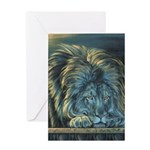 Temple Lion Greeting Card