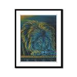 Temple Lion Framed Panel Print