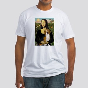 Mona and her Beagle Fitted T-Shirt