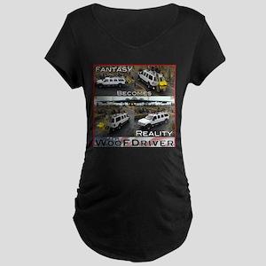 Fantasy To Reality Maternity Dark T-Shirt