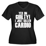 Killed Cardio Women's Plus Size V-Neck Dark T-Shir
