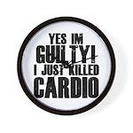 Killed Cardio Wall Clock