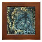 Temple Lion Framed Tile
