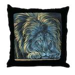 Temple Lion Throw Pillow