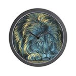 Temple Lion Wall Clock