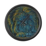 Temple Lion Large Wall Clock