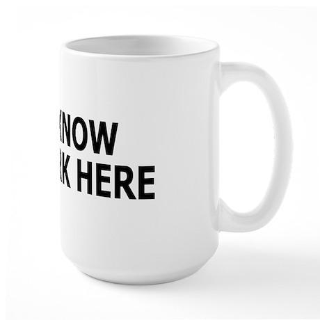 I just work here Large Mug