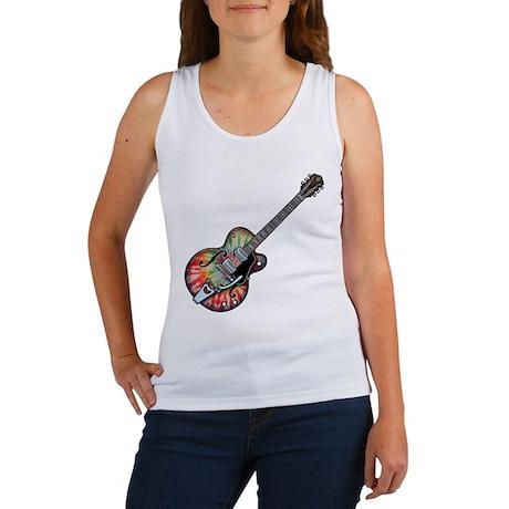 Tie Dye Guitar Women's Tank Top
